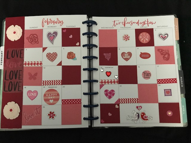 FEBRUARY HAPPY PLANNER LAYOUTS